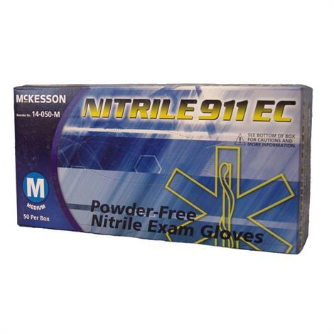 McKesson Nitrile 911 EC Powder Free Textured Fingertips Exam Gloves