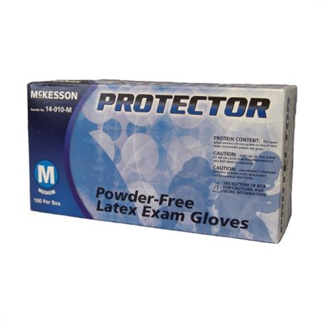 McKesson Protector Powder Free Latex Textured Fingertips Exam Gloves