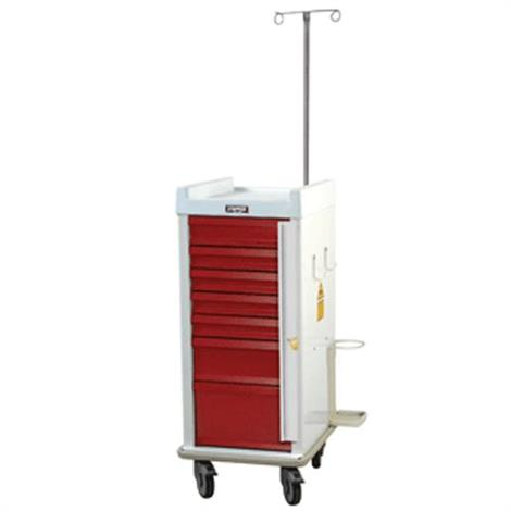 Harloff MR-Conditional Seven Drawer Emergency Cart