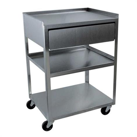 Ideal Standard Duty Three Shelf Mobile Stainless Drawer Cart