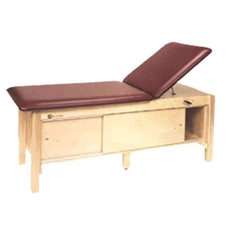 Armedica Maple Hardwood Treatment Table with Adjustable Back and Enclosed Cabinet