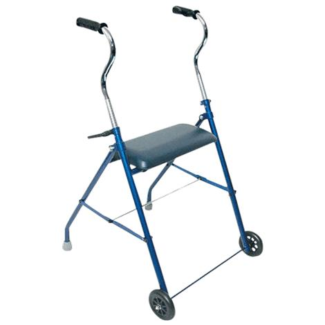 Mabis DMI Steel Walker with Wheels And Seat