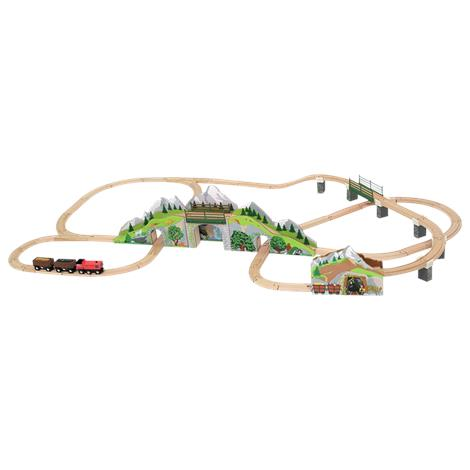 Melissa & Doug Mountain Tunnel Wooden Train Set