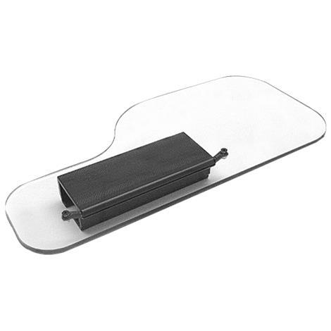 Therafin Standard Shape Clear Wheelchair Half Tray