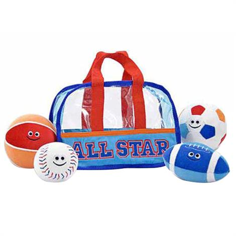 Melissa & Doug Sports Bag Fill And Spill Soft Toy