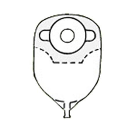 Nu-Hope Convex Round Post-Operative Adult Urinary Pouch with Flutter Valve