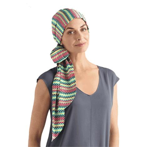 Amoena Waterlily Cotton Scarf With Long Sashes