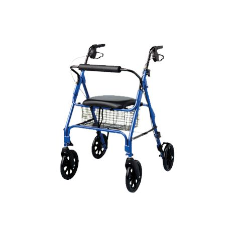 Medline Folding Rollator With Eight Inch Wheels