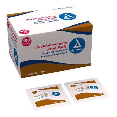 Dynarex Povidone Iodine Prep Pad