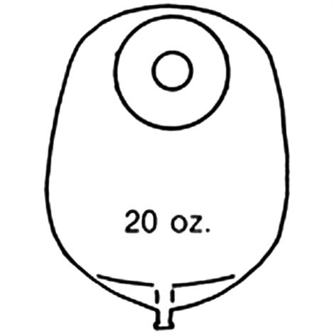 Buy Nu-Hope Nu-Flex Round Post-Operative Mid-Size Urinary Pouch With Flutter Valve