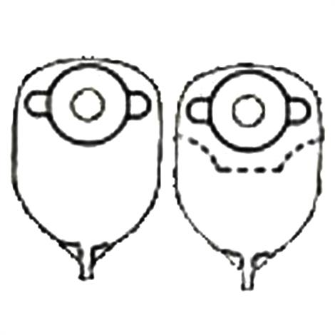 Nu-Hope Round Post-Operative Brief Urinary Pouch With Flutter Valve