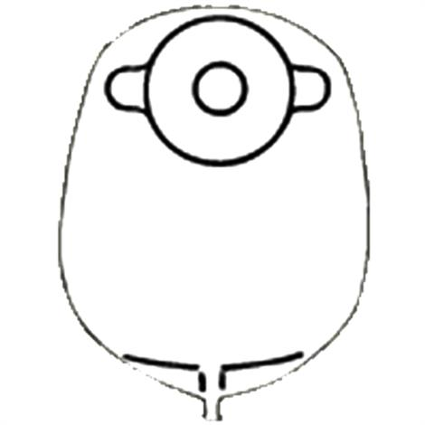 Nu-Hope Standard Deep Convex Round Post-Operative Mid-Size Urinary Pouch