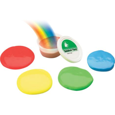Rainbow Silicon Rubber Larger Portions Exercise Putty
