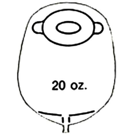 Nu-Hope Post-Operative Standard Oval Convex Pre-cut Mid-size Urinary Pouch With Skin Barrier