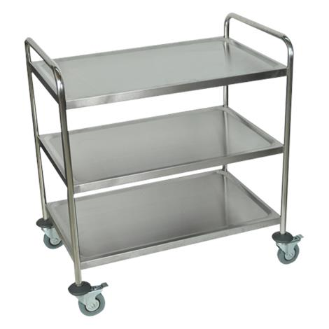Luxor Stainless Steel Cart With Three shelves