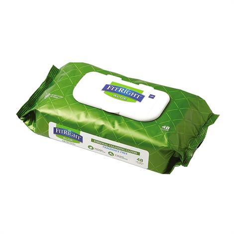 Buy Medline FitRight Aloetouch Quilted Personal Cleansing Wipes