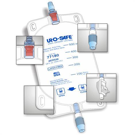 Buy Urocare Uro-Safe Disposable Vinyl Urinary Leg Bags