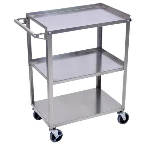 Luxor Stainless Steel Three Shelves Utility Cart