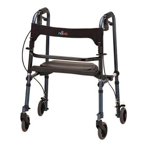 Buy Nova Medical Cruiser De-Light Four-Wheel Folding Walker With Basket