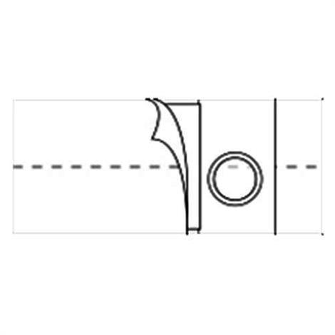 Nu-Hope Original Flat Panel 6 Inches Left Sided Stoma Regular Elastic Ostomy Support Belt