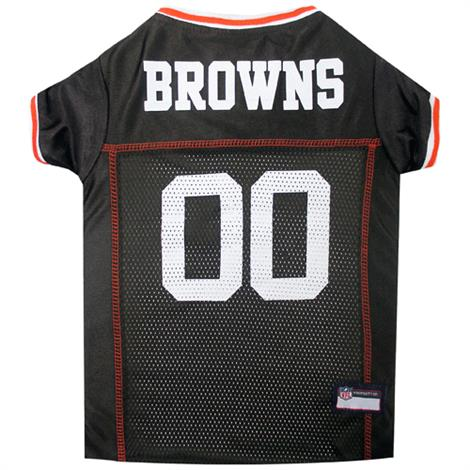 Pets First Cleveland Browns White Trim Mesh Dog Jersey