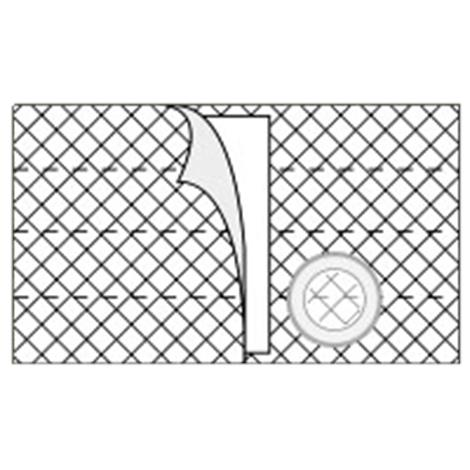 Nu-Hope Nu-Form 8 Inches Left Sided Cool Comfort Elastic Ostomy Support Belt