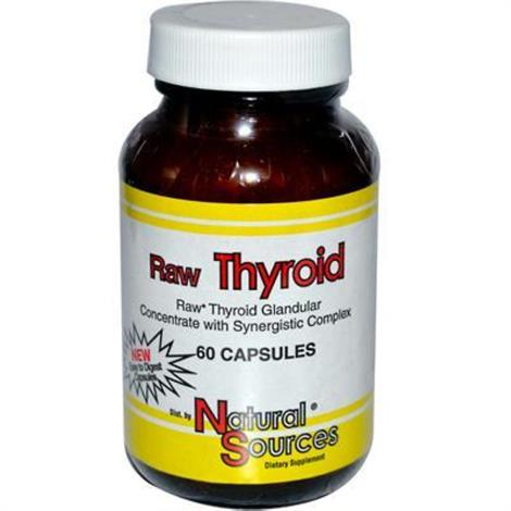 Natures Source Raw Thyroid Capsule