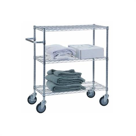 R&B Adjustable Utility Carts with Solid Top or Bottom Shelf