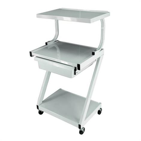 Ideal Z Three Shelf Specialty Cart with Drawer