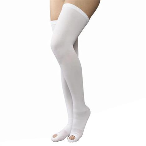 AT Surgical Womens Thigh High Open Toe 15-20 mmHg Compression Support Stockings