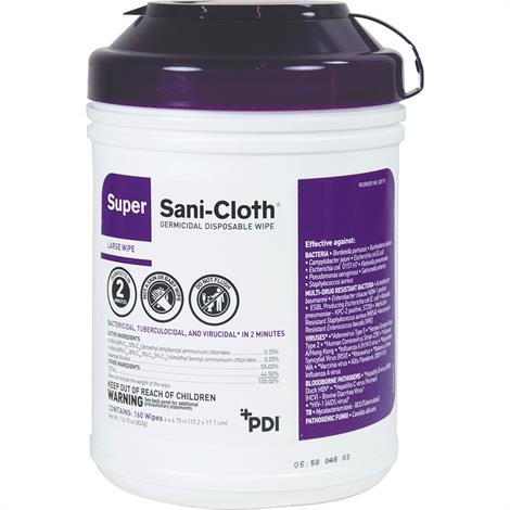 PDI Super Sani-Cloth Germicidal Disposable Wipes