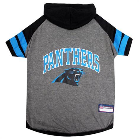 Pets First Carolina Panthers Hoodie Dog Tee Shirt Pet Care