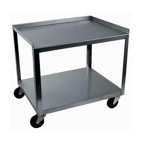 Ideal Standard Duty Two Shelf Mobile Stainless Utility Cart