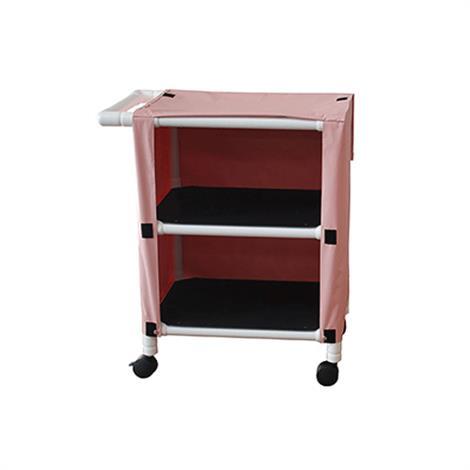 MJM International Two Shelf Linen Cart