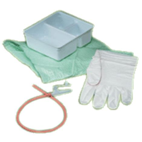 Bard Tracheal Suction Latex Red Rubber Catheter Tray With One Glove