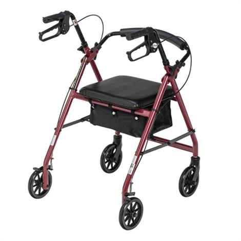 Buy Drive Aluminum Rollator With Fold Up and Removable Back Support and Casters
