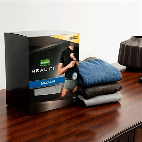 Depend Real Fit Incontinence Briefs For Men - Maximum Absorbency