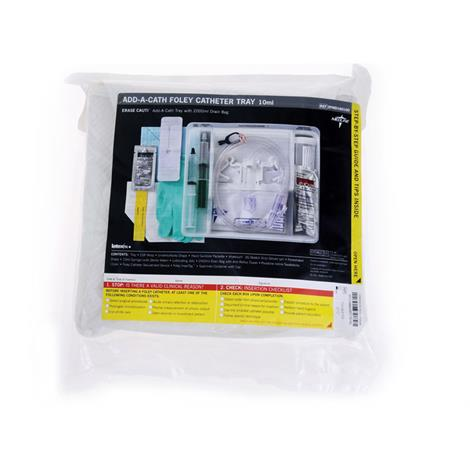 Medline Add-A-Cath Erase Cauti One-Layer Tray With Drain Bag