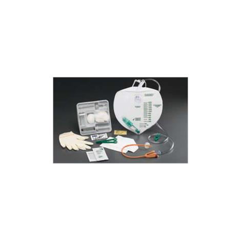 Bard Lubricath Center-Entry Drainage Bag Foley Tray wtih Tamper-Evident Seal and Anti-Reflux Device