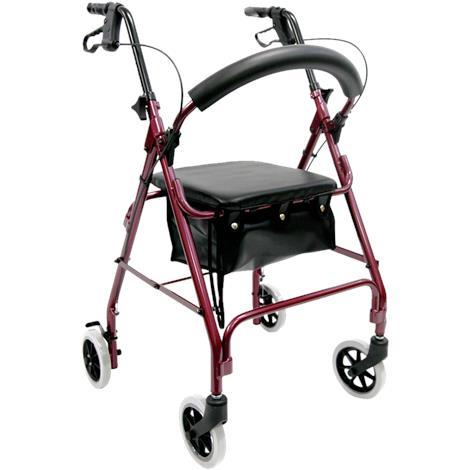 Karman Healthcare Standard Height Four-Wheel Foldable Rollator