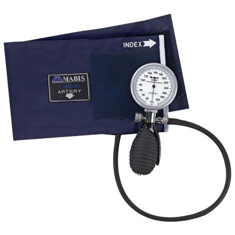 Mabis DMI Signature Palm Aneroid Sphygmomanometer with Blue Nylon Cuff
