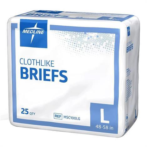 Medline Clothlike Adult Moderate Absorbency Briefs