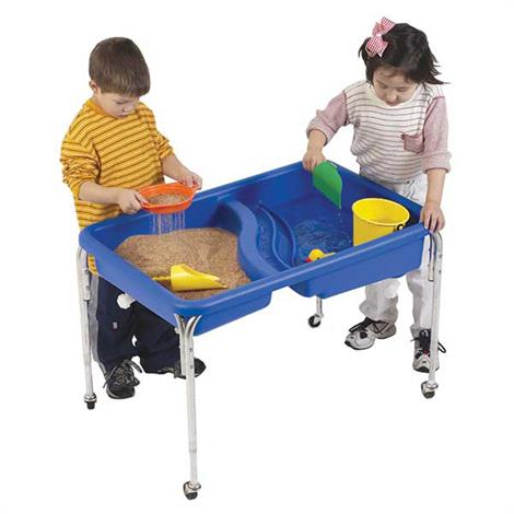 Childrens Factory Double Basin Neptune Table Without Lid