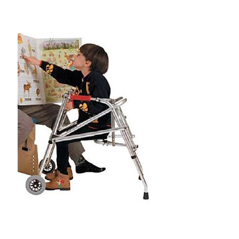 Kaye PostureRest Two Wheel Walker With Seat For Pre Adolescent