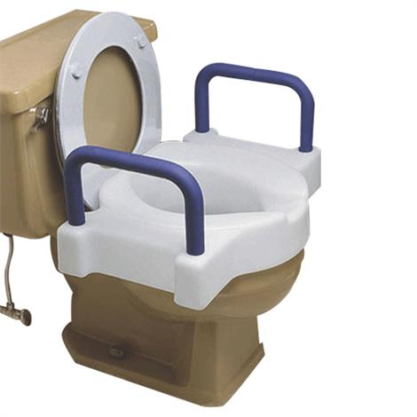 Maddak Extra Wide Tall-Ette Toilet Seat With Arms