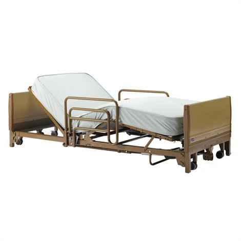 Buy Invacare IVC Full Electric Low Home Care Bed Package With Innerspring Mattress And Assist Bed Rails