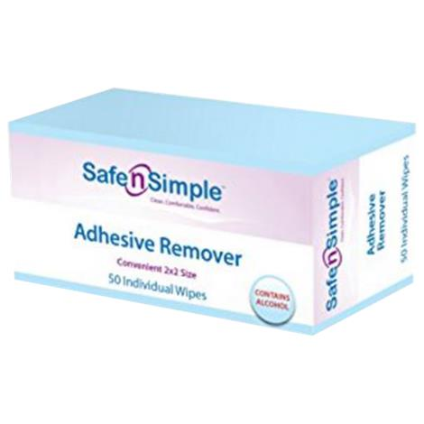 Safe N Simple Alcohol Based Adhesive Remover Wipes