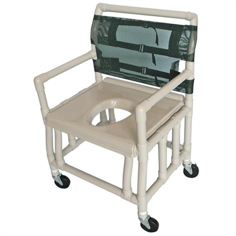 Healthline Bariatric Shower Commode Chair With 500 Lb Capacity