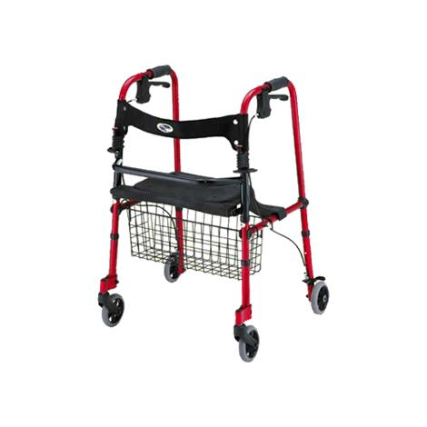 Nova Medical Cruiser De-Light Four-Wheel Folding Walker With Basket