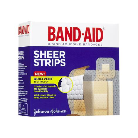 Johnson & Johnson Band-Aid Sheer Strip Adhesive Bandage
